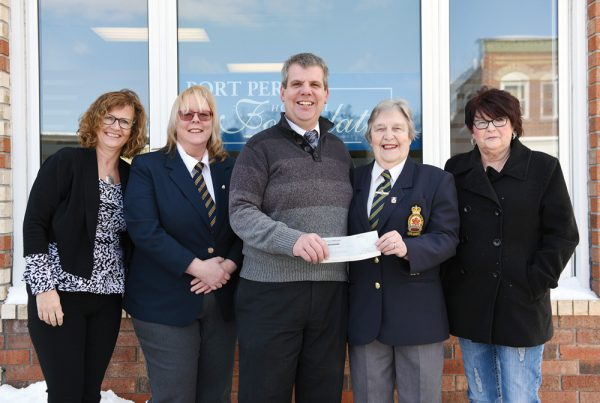 Port Perry Hospital Foundation Cheque Presentation from Legion