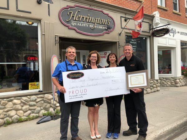 Herrington's Cheque Donation